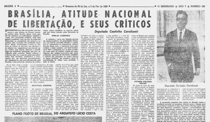 Jeden z tekstów bohatera niniejszego tekstu w prasie brazylijskiej