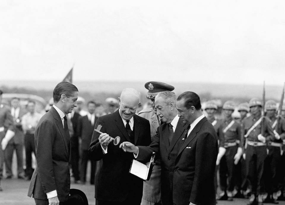Eisenhower w Brazylii w 1960 r.